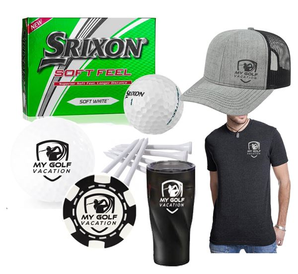MGV 6 Pack - Dozen Balls, Tees, Poker Chip, Hat, Shirt and Tumbler